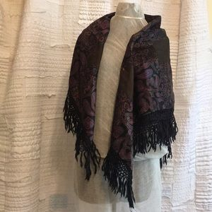 "Accessories - Square 40"" Patchwork Shawl"